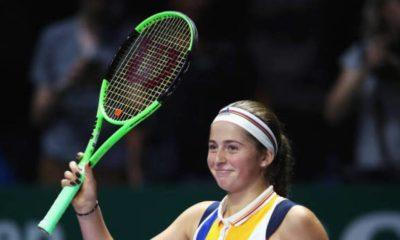 Ostapenko plays doubles in Indian Wells
